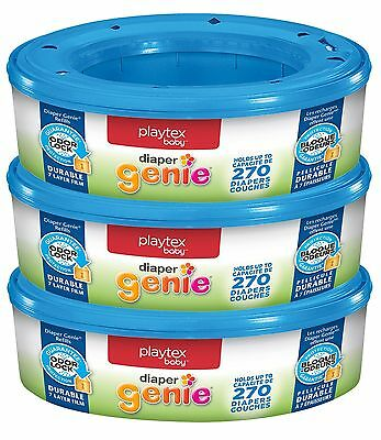 Diaper Genie Pail Refills 3 Pack 270 Count Disposal Odor Lock Bags System New