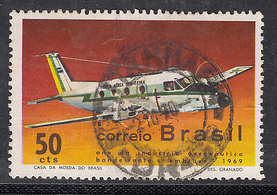 BRAZIL 1969 50c AIR  Very Fine Used