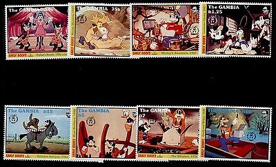 Gambia 1293-1300 MNH Disney, Music, The band concert
