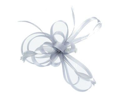 Silver Fascinator on Headband/ Clip-in for Weddings, Races and Occasions-5308