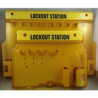 STON Overall Molding Lockout Station with Cover, Unfilled Safe Security Padlock