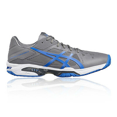 Asics Gel-Solution Speed 3 Mens Grey Tennis Court Shoes Trainers Pumps