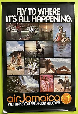 "Vintage Jamaica Tourist Travel Poster, ""24x36 Original Very Good Condition"
