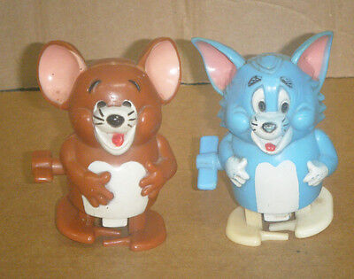 Vintage c1970's Marx Wind-Up Tom & Jerry Walking Toys