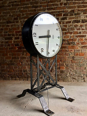 Fabulous Large Wall Clock Gent Of Leicester Mid century Loft Style Industrial