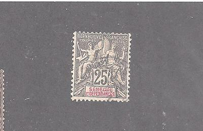 "Senegal    #45  Used   ""navigation And Commerce  Colony Name In Carmine"""