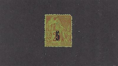 "Senegal #4  Mh  ""french Colonies With Black Overprint"""