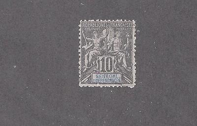 "Senegal    #40   Used   ""navigation And Commerce  Colony Name In Blue"""