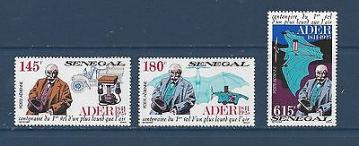 "Senegal  #c150-C152     Mh    ""clement Ader, Engineer & Aviation Pioneer"""