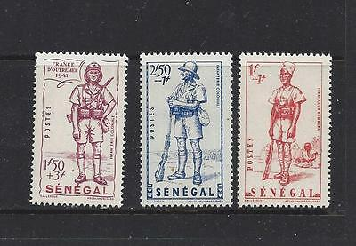 "Senegal #b13-B15 Mh    ""bambara Sharpshooter & Colonial Soldier"""