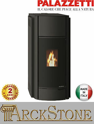 Pellet Stove Air Warm Airy Hermetic Palazzetti Julie 9 Power 9 Kw Black