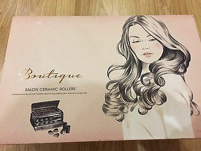 BaByliss Boutique 3133BQU Salon Ceramic Heated Hair Rollers Curlers  NEW