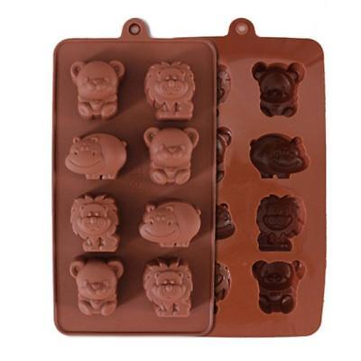 8 Holes Silicone Chocolate Animal Shape Mould Jelly Ice Candy Chocolate Cake CB