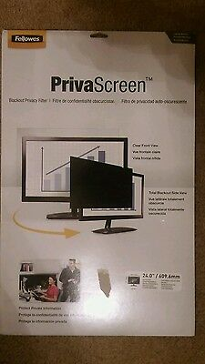 Brand New Fellowes Blackout Privacy Filter 24.0 / 609.6mm