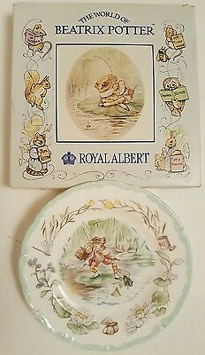 BEATRIX POTTER JEREMY FISHER ~ CHINA TEATIME COLLECTION PLATE~ BOXED ~ 16cm WIDE