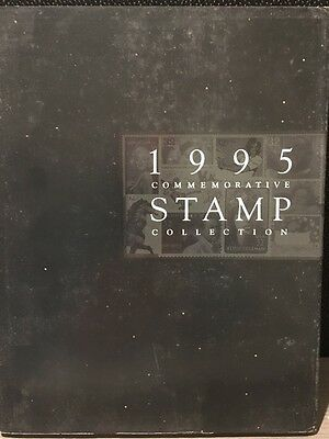USPS 1995 Commemorative Stamp Collection Book All Stamps Included