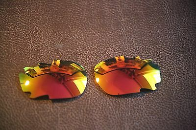 LensReplace Fire Red Iridium Replacement Lens fits-Oakley Jawbone /Racing Jacket