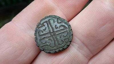 Decorative Early Medieval Solid Bronze Piece/Gaming Perhaps