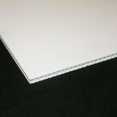 4mm White Correx Fluted Corrugated Plastic Sheet 15 SIZES TO CHOOSE
