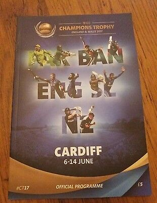 ICC Champions Trophy Cricket Programme CARDIFF Edition 1-18 June 2017
