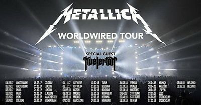 2x Tickets Metallica Turin Torino Italy 2018 Worldwired Tour BIGLIETTO