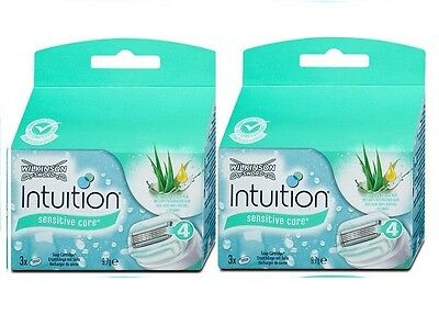 6x Wilkinson Sword Intuition sensitive care Rasierklingen , ersatzklingen 2x3