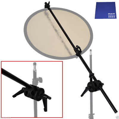 Phot-R 175cm Reflector Holder Double Swivel Head Clamp Bracket Chamois Cloth