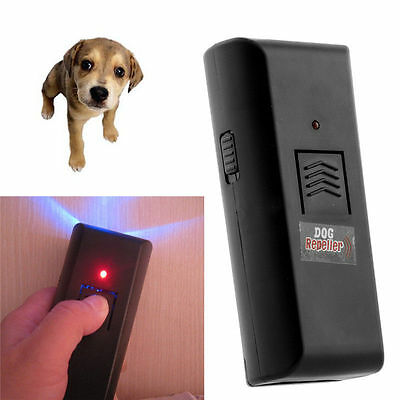 2 × Dog Pet Ultrasonic Repeller Bark Training Obedience Device Sound Trainer New