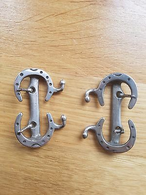 """Antique """"Horse Shoe design Shoe Buckles""""..early white metal buckles.."""