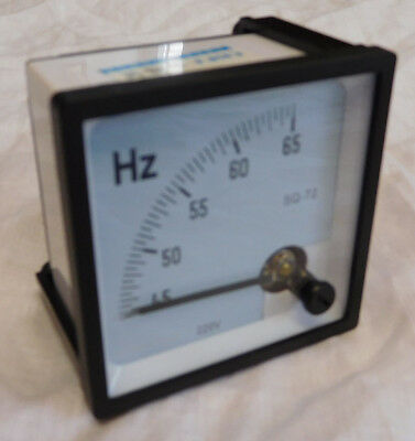 Frequency Meter 75 x 75mm Analog Panel mounting 45 60 Hz 65x65mm cut out 6L2