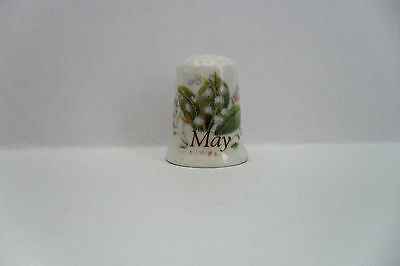Bone China Thimble - Spring Flowers - Lily Of The Valley