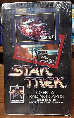 1991 Star Trek Official Trading Cards Series II Wax Box Factory Sealed By Impel