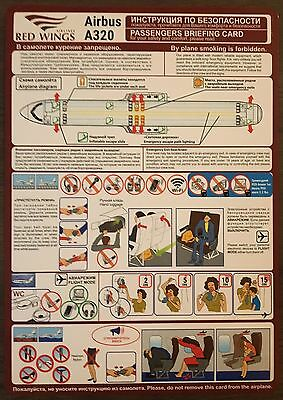 Safety card Rissian Red Wings A320