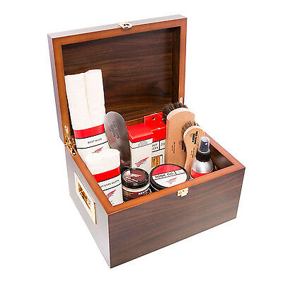 Luxury Valet Box containing Red Wing Shoe Care Products