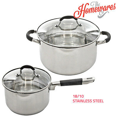 SQ Professional Lustro Cooking Casserole Saucepan Stockpot with Lid