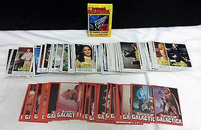 1978 Topps Battlestar Galactica Cards Complete 132 Set 36 Stickers + Wax Pack