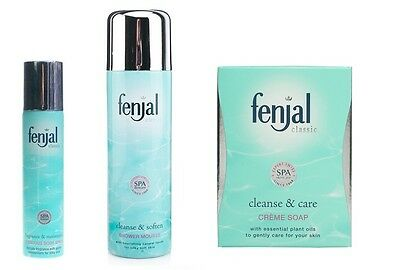 TRIO Fenjal Classic BODY SPRAY 75ml + SHOWER MOUSSE 200ml + CREME SOAP 100g