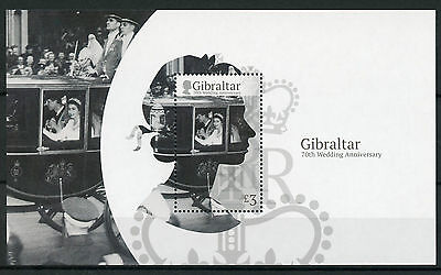 Gibraltar 2017 MNH Queen Elizabeth II 70th Wedding Anniv 1v M/S Royalty Stamps
