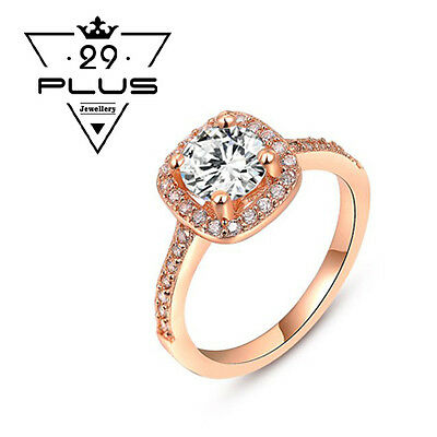 18K Rose Gold Filled Classic Zircon Fashion Wedding Engagement Ring Gift