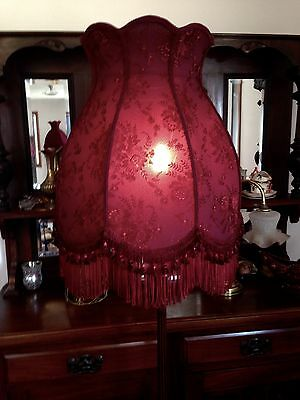 Stunning  New Hand Crafted Wine Lace  Shade For Floor Lamp