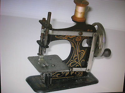 Vintage German Made Hand Crank Toy Sewing Machine. Lot4