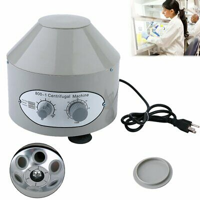 Electric Centrifuge Machine Lab Medical Practice 800-1 4000rpm W/ 6x 20ml Rotor