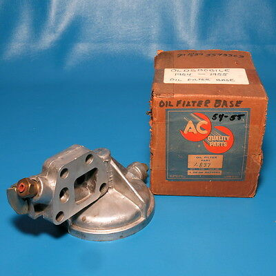 NOS GM Oil Filter Mounting Base Assembly 1954-1955 Olds 88 Super 88 Starfire 98