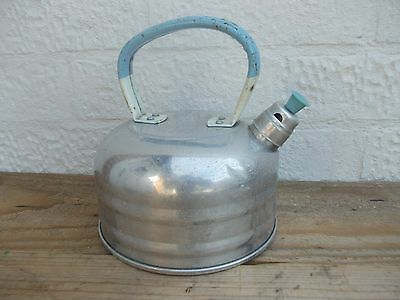 Vintage Stove Top Whistling Kettle Aluminium Camping VW Camper