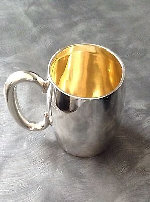 Lovely Solid Silver Tankard/mug Sheffield 1912 167 Grams