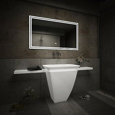 LED Illuminated Bathroom Mirror L57 | Bluetooth Speaker | Switch |