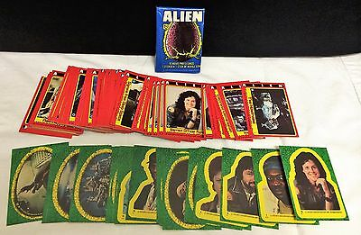 1979 Topps Alien Movie Trading Cards Complete 84 Set 22 Stickers Wax Pack Super
