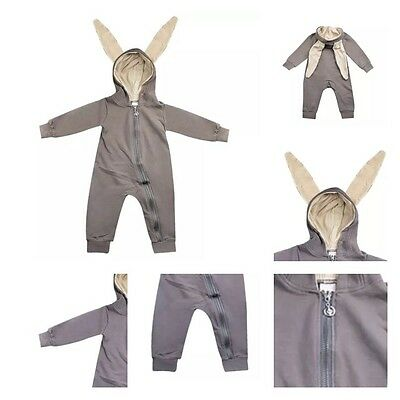 Toddler Infant Baby Girl Boy 3D Ear Bunny Rabbit Romper Jumpsuit Playsuit Outfit