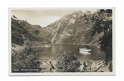 Maraak-Geiranger Norway RP Postcard Carl Normann     171A