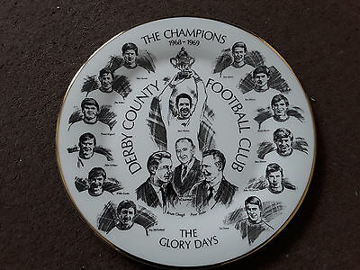 Derby County 1968-69 Div 2 Champions plate limited edition